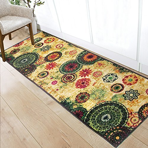 Cheap Soft Nylon Area Rugs Contemporary Living & Bedroom Indoor/ Outdoor Shag Rug 8mm Pile Height with Rubber Backing, Anti-Static, Water-Repellent Printed Rugs Clusters of Stars, 1.6'x5'