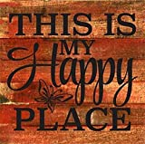 Cheap Artistic Reflections Pallet Art RE1036r This is My Happy Place, 10.5″ x 10.5″, Red