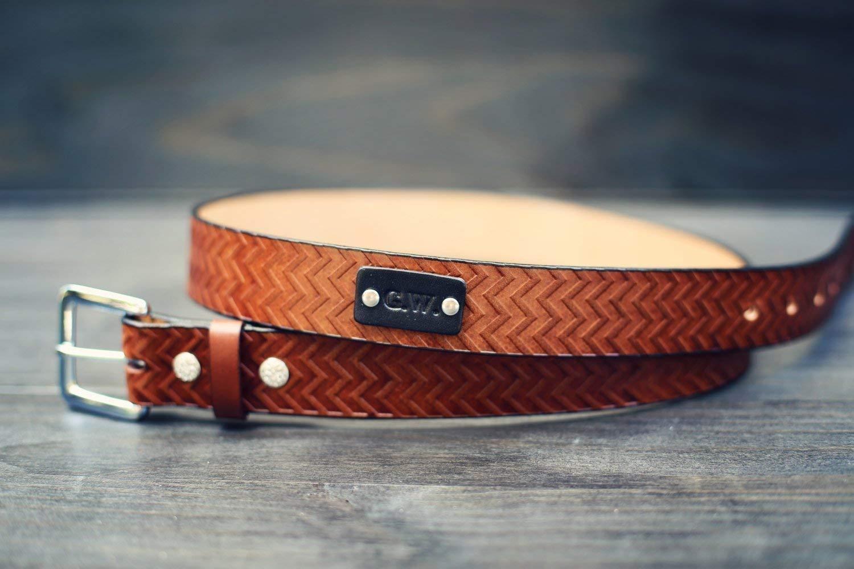 Raw Natural Leather Belt Men 1.4 in 3,5 cm Wedding Belt Choice of Belt Buckles For Men Handmade Personalized Gift Belt