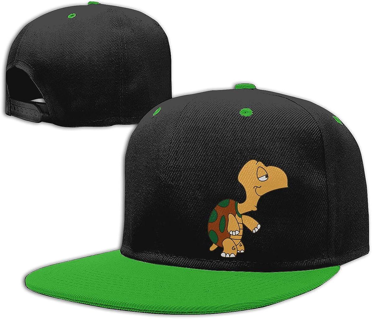 2 Women Men Punk Rock Cap Classic Flat Bill Baseball Caps Cartoon Turtle
