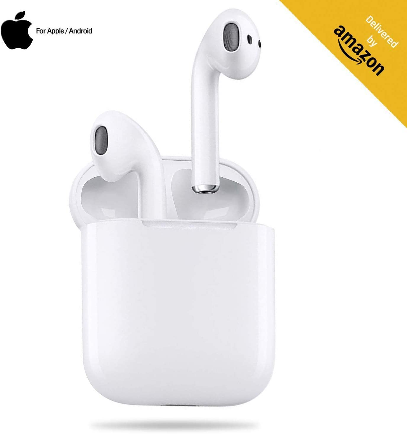 Bluetooth Headphones Bluetooth 5.0 Wireless Earbuds 3D Stereo Touch-Control Headsets Pop-ups Pairing 24H Playtime Fast Charging Case IPX5 Waterproof Earphones for iPhone Apple Airpods Android