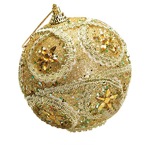 Mome2018 Christmas Pendant  Christmas Ball Ornaments Shatterproof Christmas Decorations Tree Balls Small for Holiday Wedding Party Decoration, Tree Ornaments Hooks Included 6 Colors (Gold) -