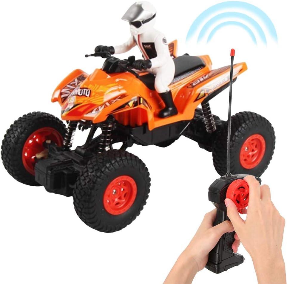 Enfants Cool Enfants Moto Jouet t/él/écommande Moto en Plastique Plage Orange Naroote Jouets de Moto