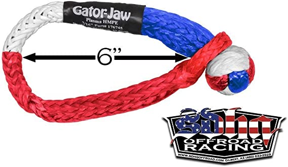 Bubba Rope Gator-Jaw Pro Synthetic Soft Shackle - Made in The USA (32