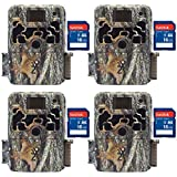 Browning 2018 Dark Ops Extreme Hunting Game Trail Camera + 16GB SD Card (4 Each)
