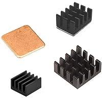 Easycargo Raspberry Pi zestaw do radiatorów, aluminium + miedź + 3 M 8810, klej termoprzewodzący do Raspberry Pi 4 B, 3B…