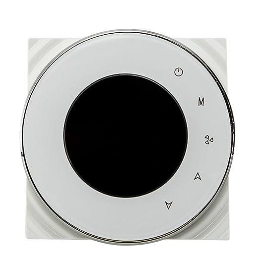 BECA 95 ~ 240VAC Tubo de cuatro WiFi programable redondo pantalla táctil termostato de aire acondicionado (BAC-6000ELW blanco): Amazon.es: Bricolaje y ...