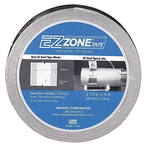 Aquasol EZ-ZT2.5 EZ Zone Tape, 2.5'' Wide, 1'' Adhesive Free''Zone'' Width, 75' Length