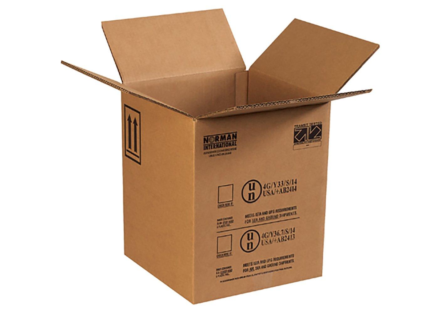 RetailSource B121215HM160 Hazmat Box, 15.125'' Height, 12.5'' Width, 12.5'' Length, Brown (Pack of 160)