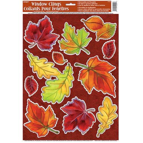 Crisp Leaves Fall Window Cling Sheet
