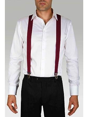 professionnel Meilleure vente magasins populaires Bretelles Homme Bordeaux: Amazon.fr: Vêtements et accessoires