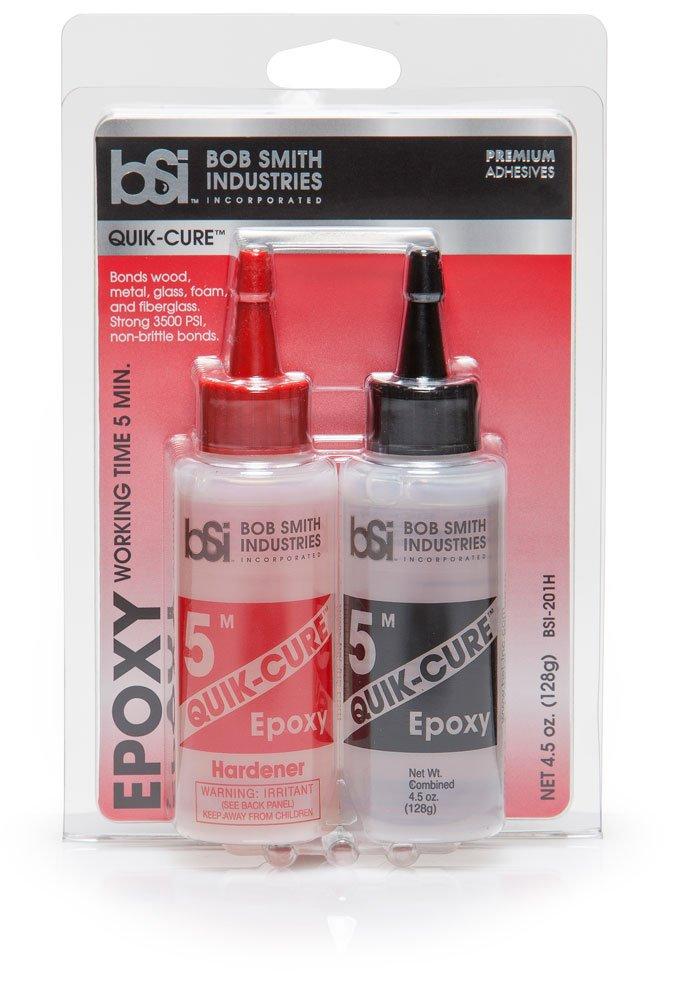 Bob Smith Industries BSI-201 Quik-Cure Epoxy (4.5 oz. Combined), Clear: Industrial & Scientific