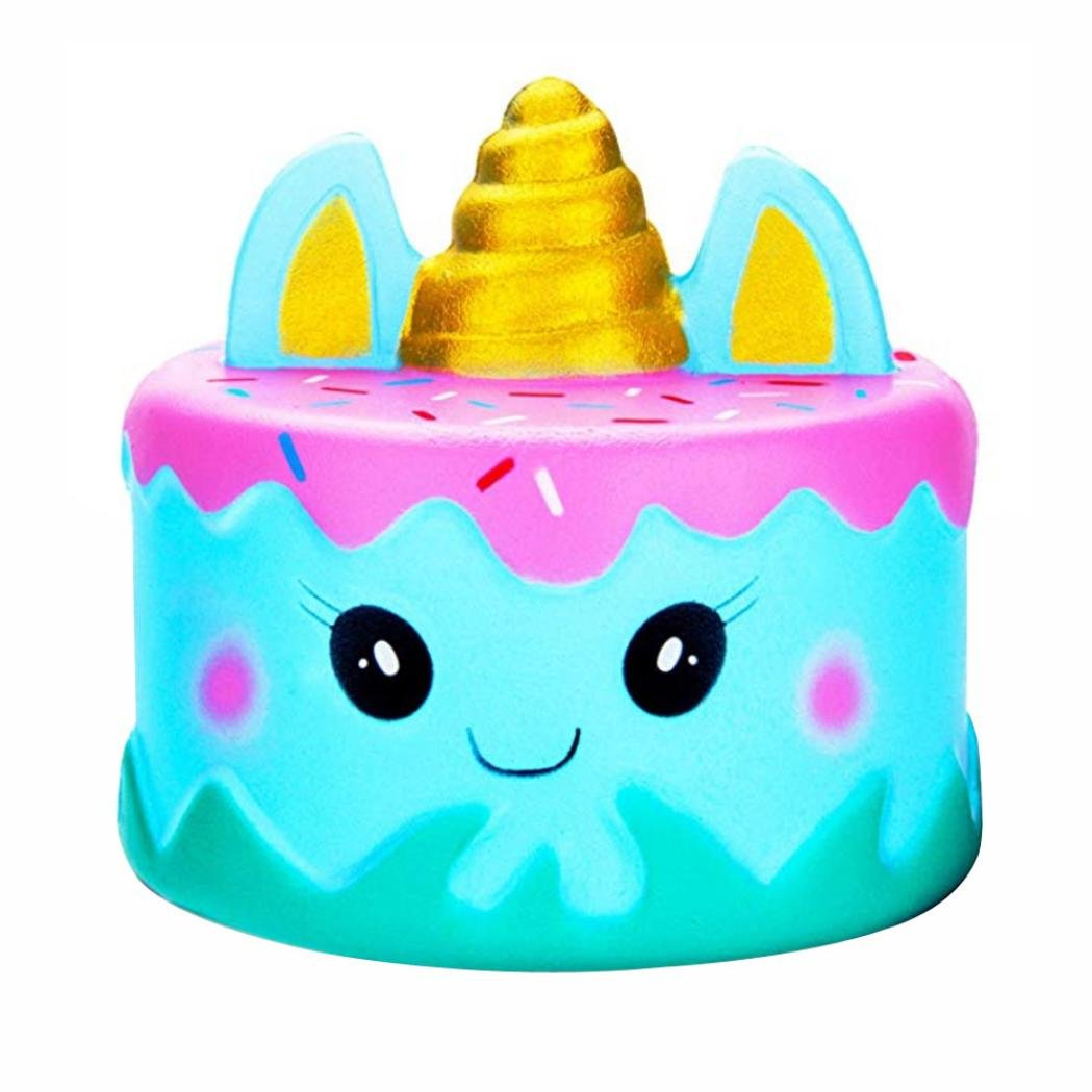Makeupstore Cartoon Unicor Cake Squishy Slow Rise Stress Relief Toy, 4-5 Year Old boy Under 10 Years Old Toy, 2019 Kawaii Pressure Relief Toy for Kids