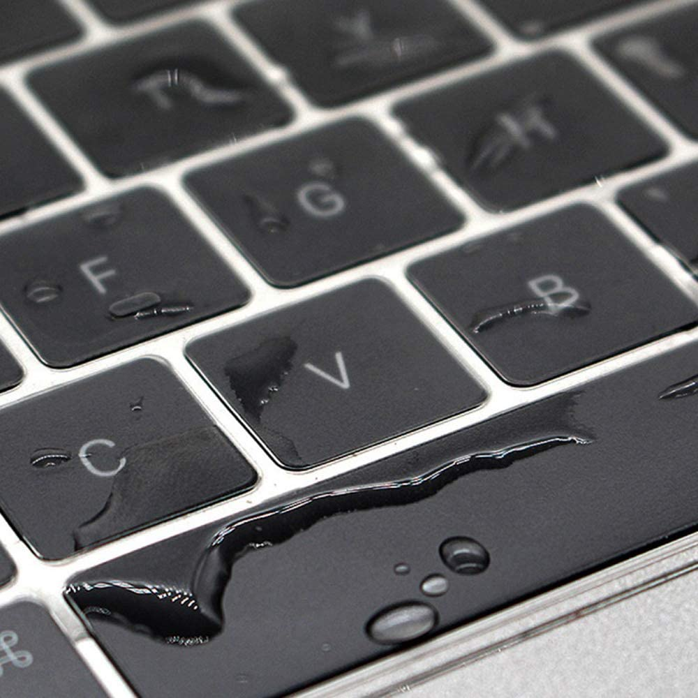 Black Ultra Thin Keyboard Cover Protector Soft Silicone Skin Compatible with MacBook Pro 16 inch with Touch Bar and Touch ID A2141 Release in November 2019