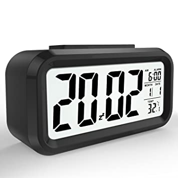 LED Digital Alarma despertador,Mture Despertador LED con información de fecha, función snooze,