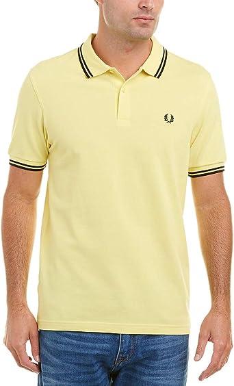 Fred Perry Hombres Doble Punta m3600 Polo Camisa Amarillo L: Amazon.es: Ropa y accesorios