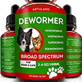 Dewormer for Cats & Dogs - Kills & Prevent Tapeworms - Roundworms -...