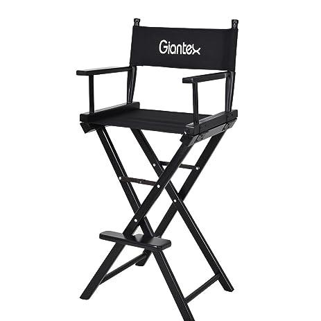 Amazoncom Giantex Folding Wooden Makeup Director Artist Chair
