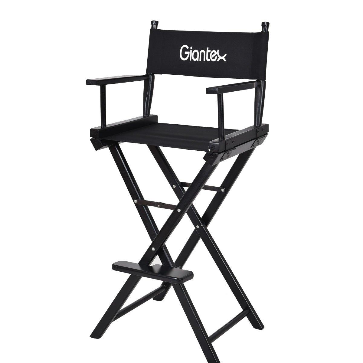 Giantex Folding Wooden Makeup Director Artist Chair Beech Wood Portable Professional (1)