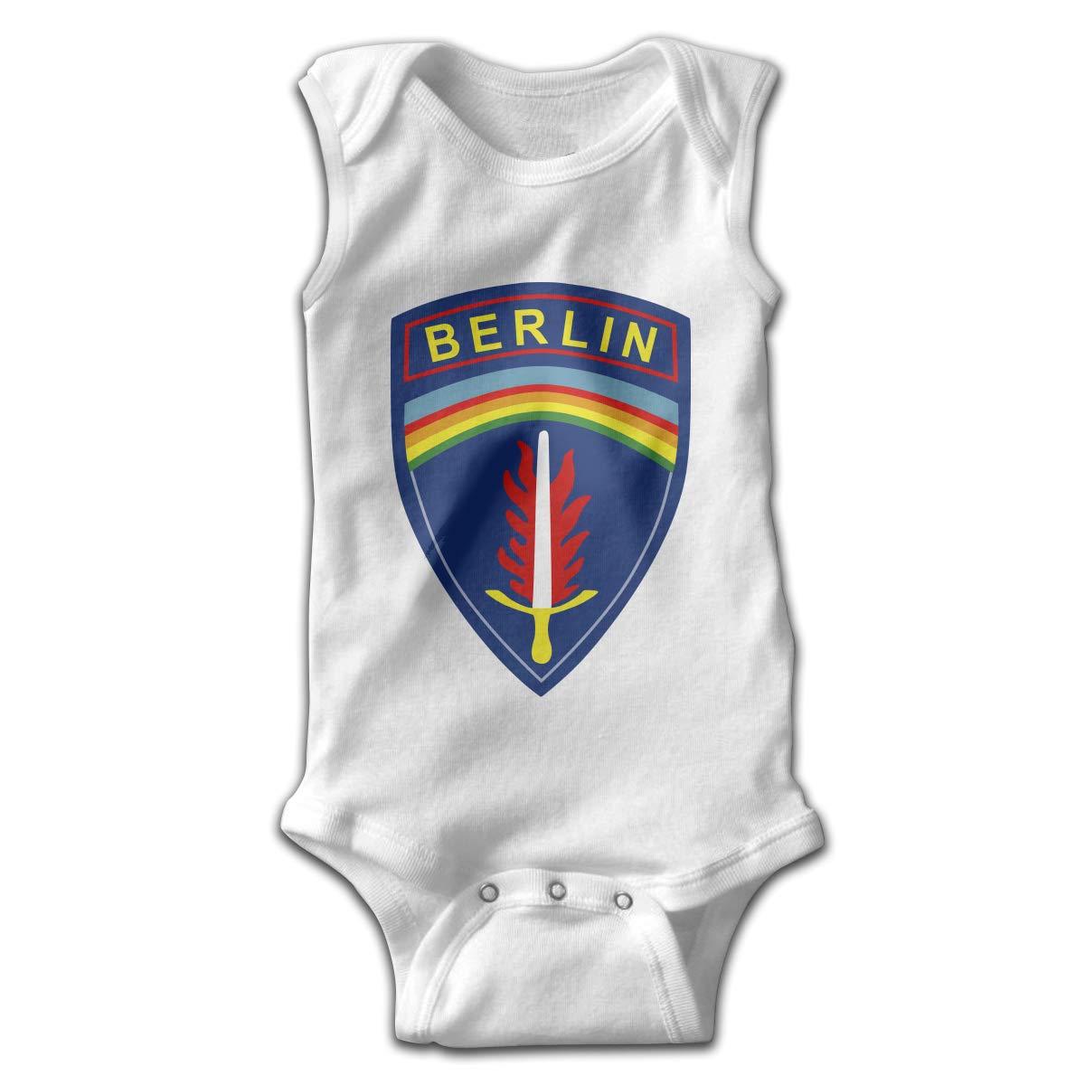 United States Army Berlin Logo Smalls Baby Onesie,Infant Bodysuit Black
