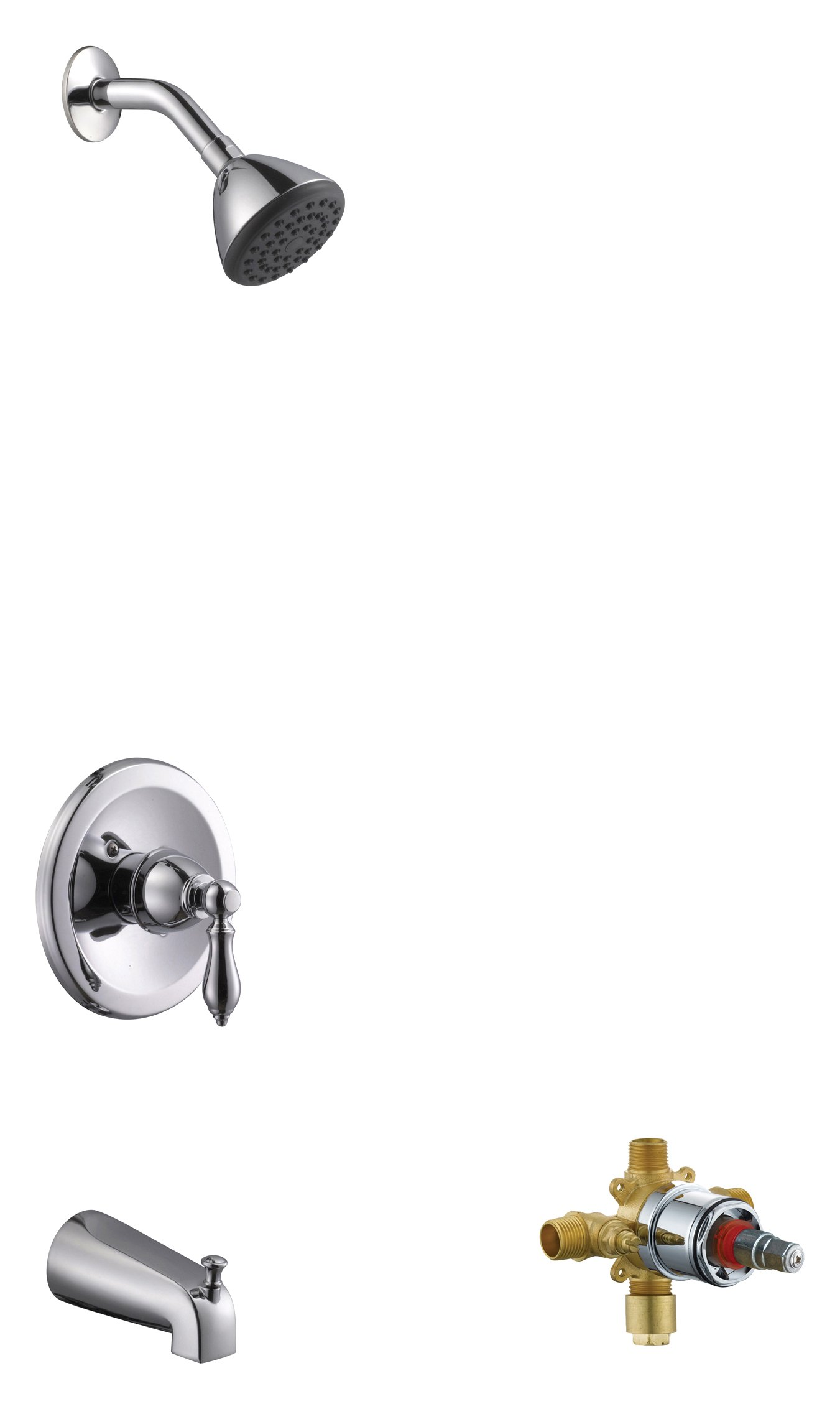 Design House 545640 Hathaway Tub & Shower Faucet, Valve Included,Polished Chrome