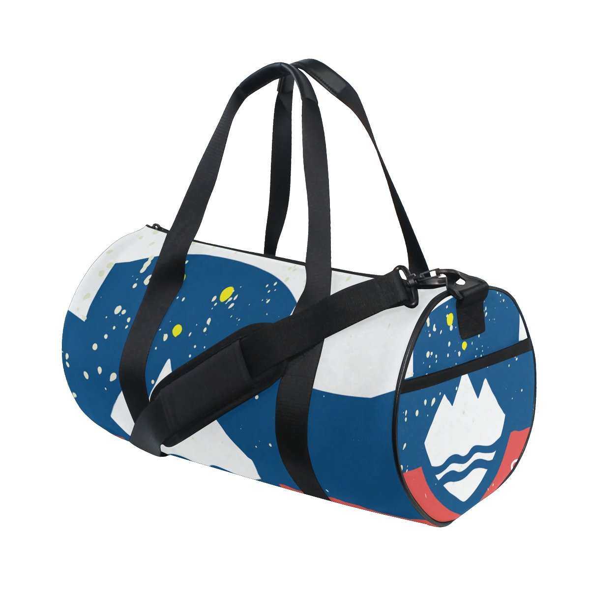 Distressed Slovenia Flag Travel Duffel Shoulder Bag ,Sports Gym Fitness Bags by super3Dprinted