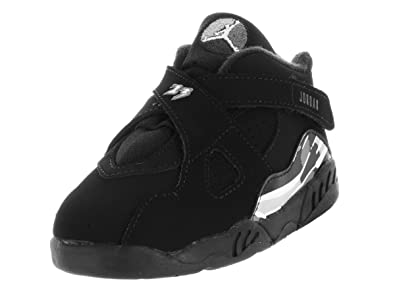 Nike Jordan Toddlers Jordan 8 Retro Bt Black White Lt Graphite Basketball  Shoe 7 e5b25b1d4