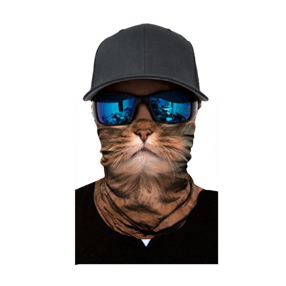 FEDULK 3D Animal Funny Balaclava Face Mask Outdoor Cycling Motorcycle Skiing Snowboarding Head Scarf(E)