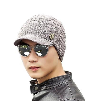 ❤️Amlaiworld Sombrero de Punto de Lana de Invierno de Hombres Caliente Gorro  de Gorro de 8236ce29742a