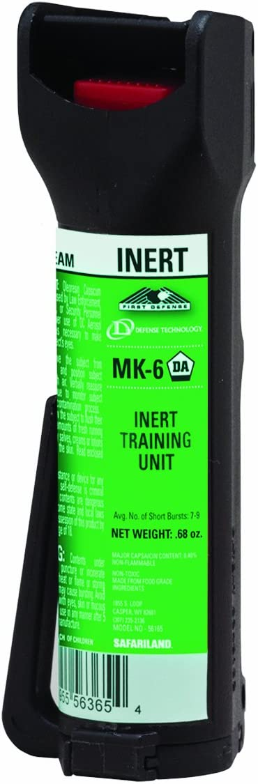 Barricade Pepper Spray for Cyclists – Bicycle Mount – Attaches to Water Bottle Cage Multiple Other Bike Mounted Locations – 4 Ounce Can of Police Grade Strength