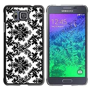 Paccase / SLIM PC / Aliminium Casa Carcasa Funda Case Cover para - Black White Stylish Classy - Samsung GALAXY ALPHA G850