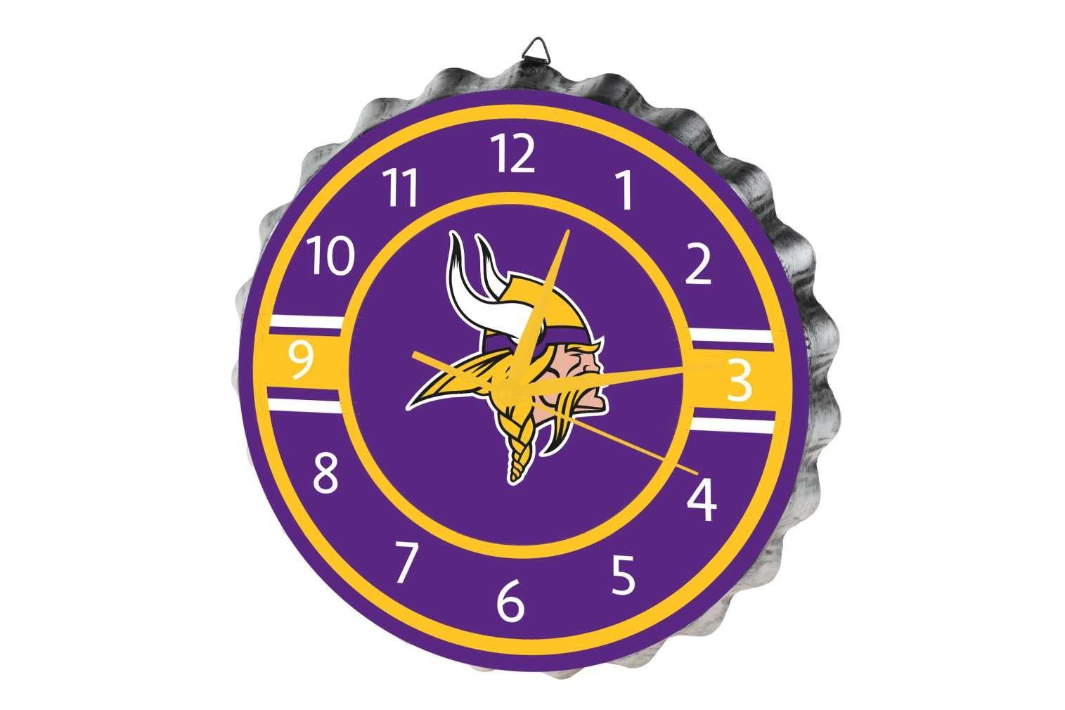 Minnesota Vikings Bottlecap Clock by FOCO