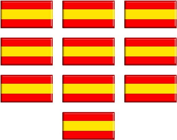 Dhabmin Pegatinas Bandera de España Adhesivos Bandera de España de ...