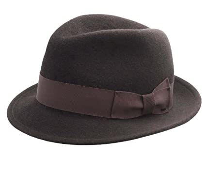 17896dfddb9 Bailey of Hollywood Riff Wool Felt Fedora Hat at Amazon Men s ...