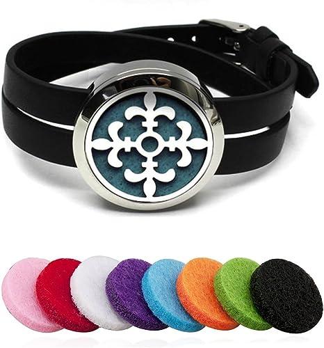 Ätherisches Öl Diffusor Armband Edelstahl Aromatherapie Medaillon Armbänder G6Y