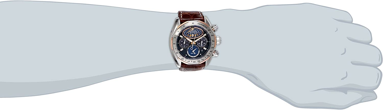 Citizen Men s AV3006-09E The Signature Collection Eco-Drive Moon Phase Flyback Chronograph Watch