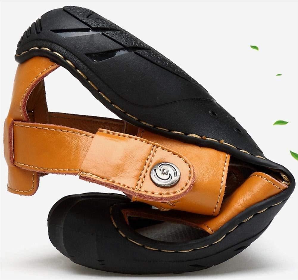 FuweiEncore Männlicher Sommer Sandalen Sandalen Sandalen Outdoor-Crash-Anti-Rutsch-Outdoor-Dual-Use-atmungsaktive komfortable Strand Schwimmbad Sandalen (Farbe   38, Größe   Gelb) 3a961c