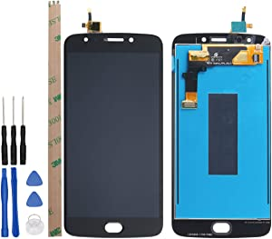 HYYT Replacement for Motorola E4 Plus XT1775 LCD Screen LCD Display and Touch Screen Digitizer Glass Replacement Assembly Without Frame(Black)