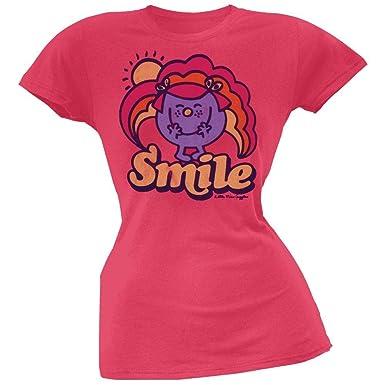 fa3d9387 Old Glory Mr. Men & Little Miss - Womens Little Miss Smile Juniors T ...