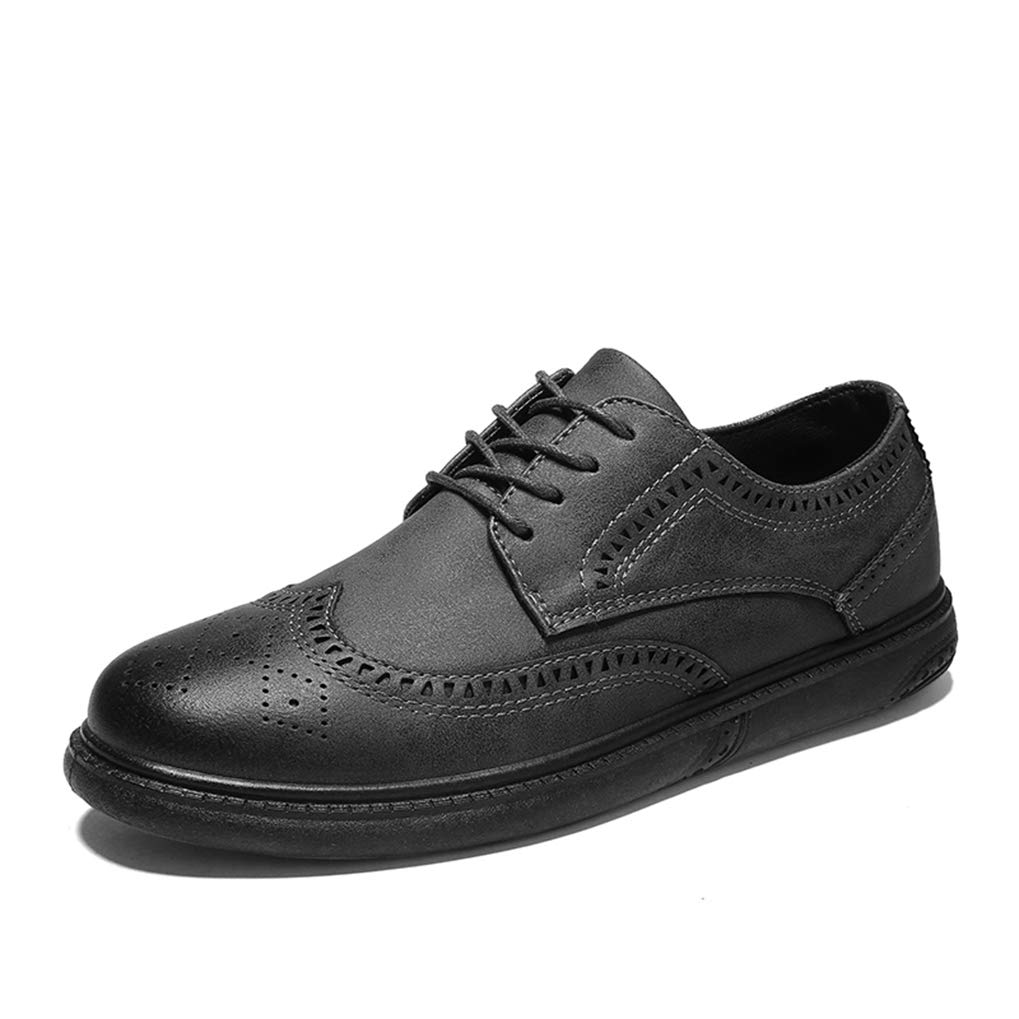 Starttwin Men Oxfords Shoes Pointed Toe Formal Classic Mens Thick Sole Casual Dress Shoes