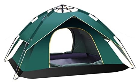 2ab0d575531 Ghlee Double Layer Camping Automatic Pop Up Tent Backpacking Tents Travel  Outdoor 2 or 3 Person