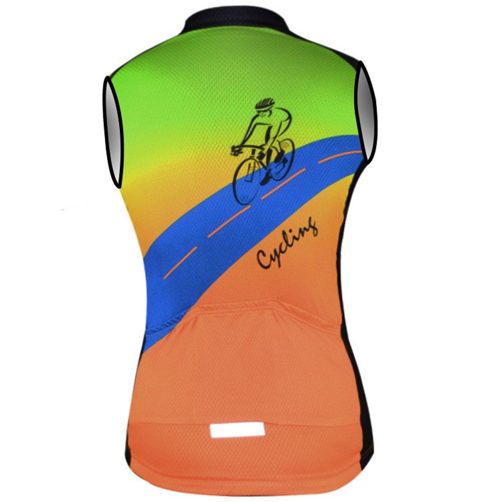 Amazon.com: aogda sin mangas ciclismo Jerseys hombres ...
