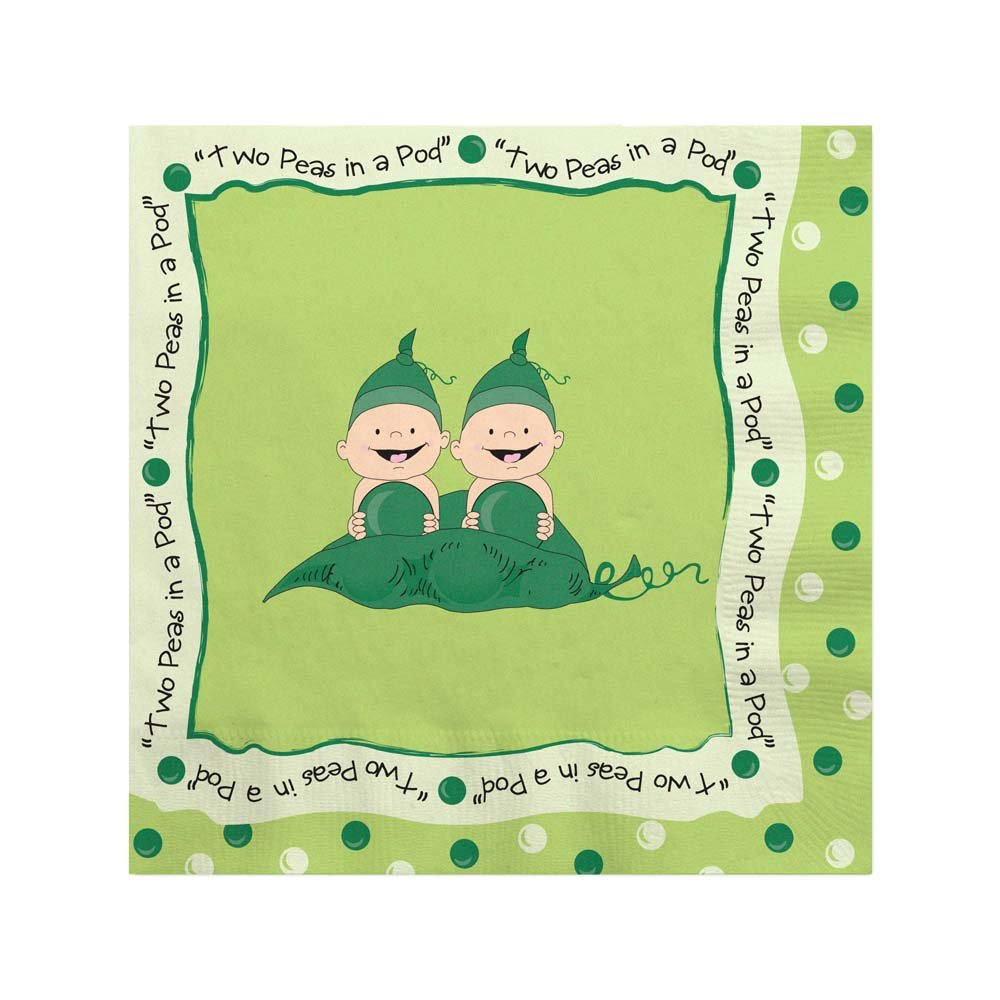 decor two shower peas twins personalized decorations pod zoom loading in invitations baby a
