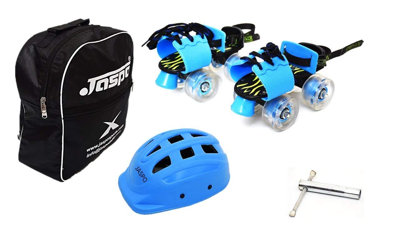 Jaspo Kinder Ride Dual Junior Adjustable Roller Skates Combo Suitable for Age Group Upto 5 Years