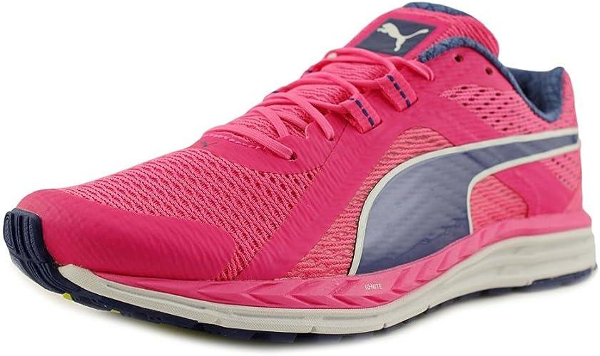 tenis asics gel flux 3 feminino azul e rosa juniors full