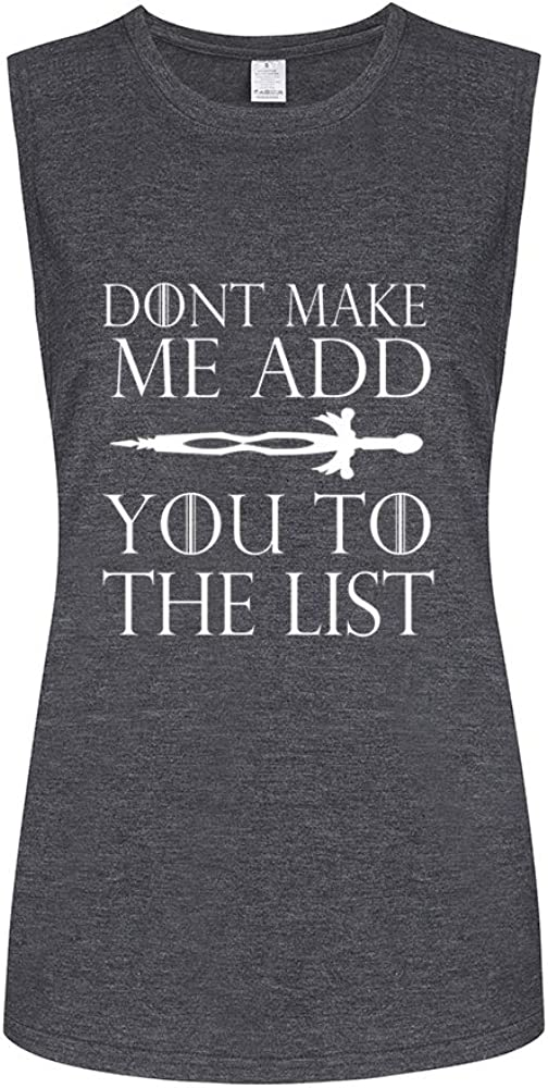 Fannoo Workout Muscle Tank Tops for Women-Game of Thrones Womens Funny Saying Fitness Gym Sleeveless Shirts