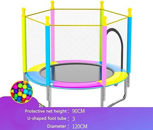 LSYOA Cama elástica Infantil Trampolín Fitness, Interior/Exterior Trampolín de Jardín con Recinto, para niños Ideal para cumpleaños Carga 250kg,Multicolor: Amazon.es: Hogar