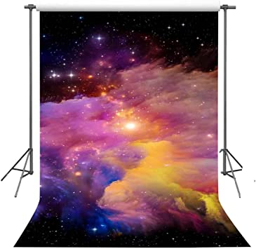 FUERMOR Space Background 7x5ft Gorgeous Universe Stars Photography Backdrop Studio Photo Props LXFU074