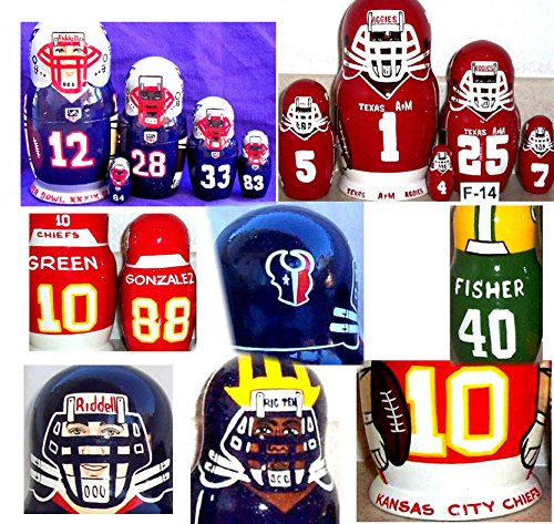 * NFL * Football * Any sport team you like * 5 pcs/6 in