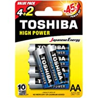Toshiba AA 72 Pieces High Power Alkaline Battery with Box